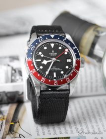Tudor Black Bay GMT on black two-piece WB Original NATO strap by @tempusx