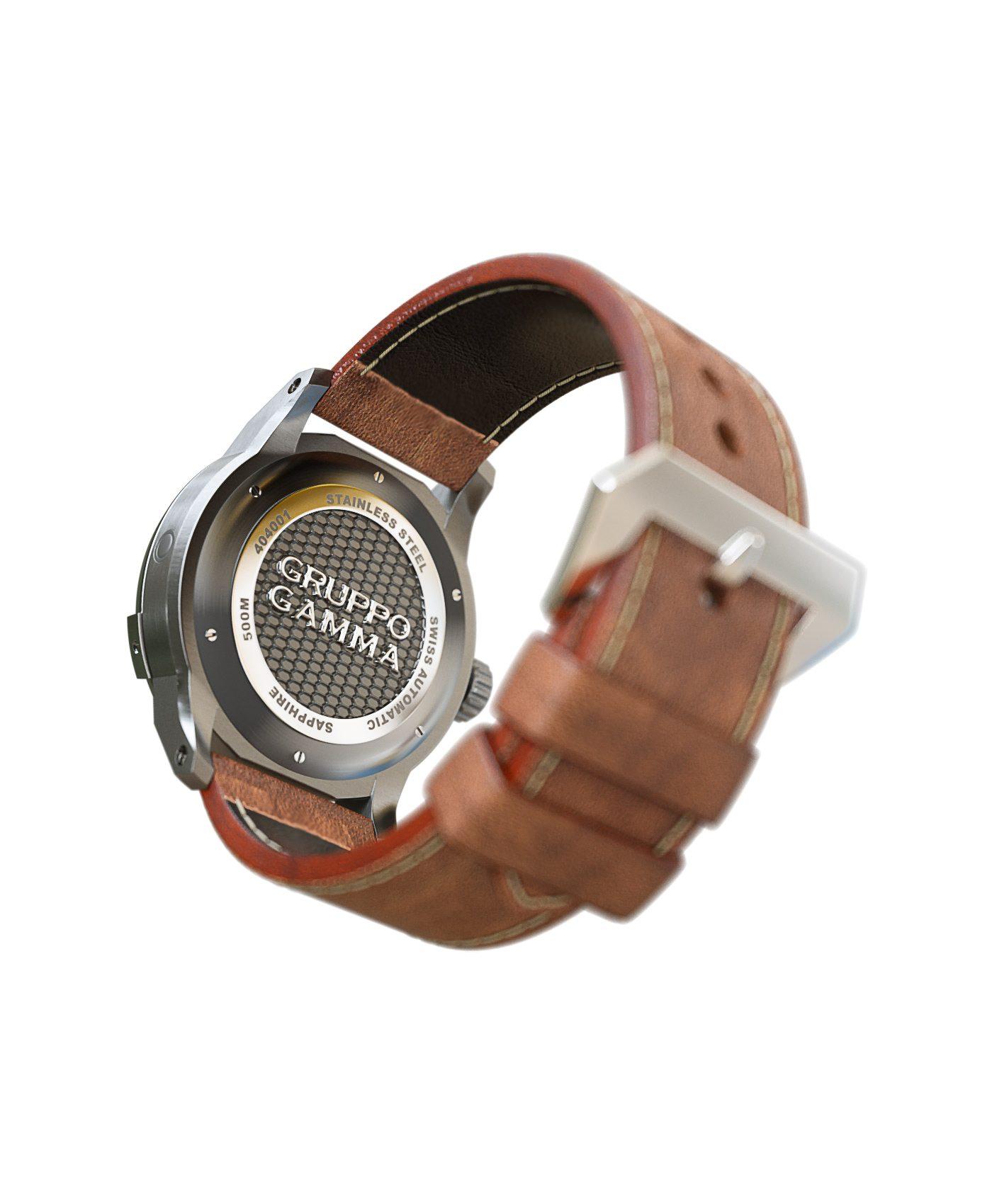 WatchBandit Gruppo Gamma - Divemaster - DG-01 Vintage Lume back