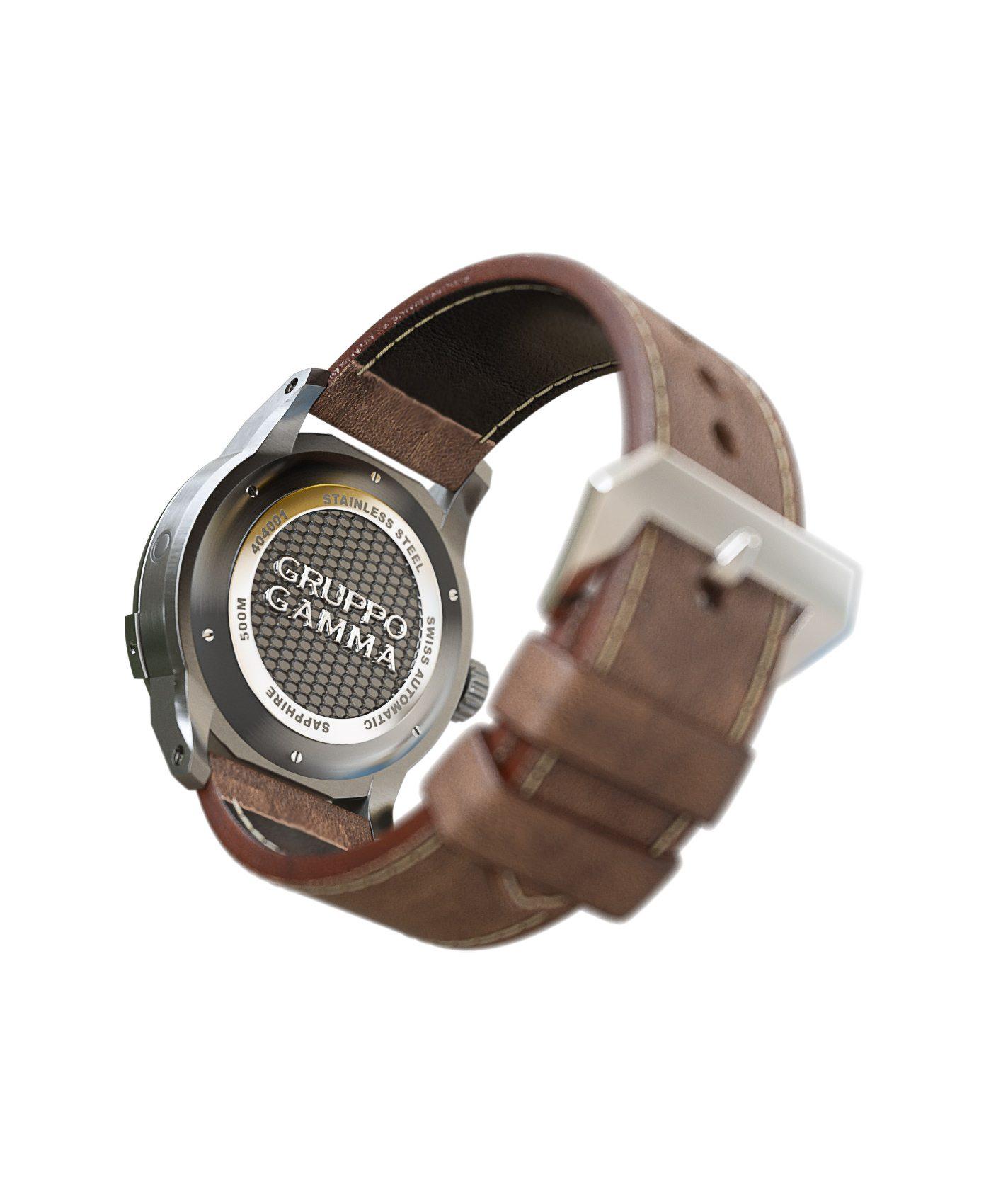 WatchBandit Gruppo Gamma - Divemaster - DG-05 Vintage Lume back