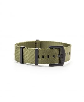 Watchbandit WB original Wristporn Nato strap in olive green and black buckles