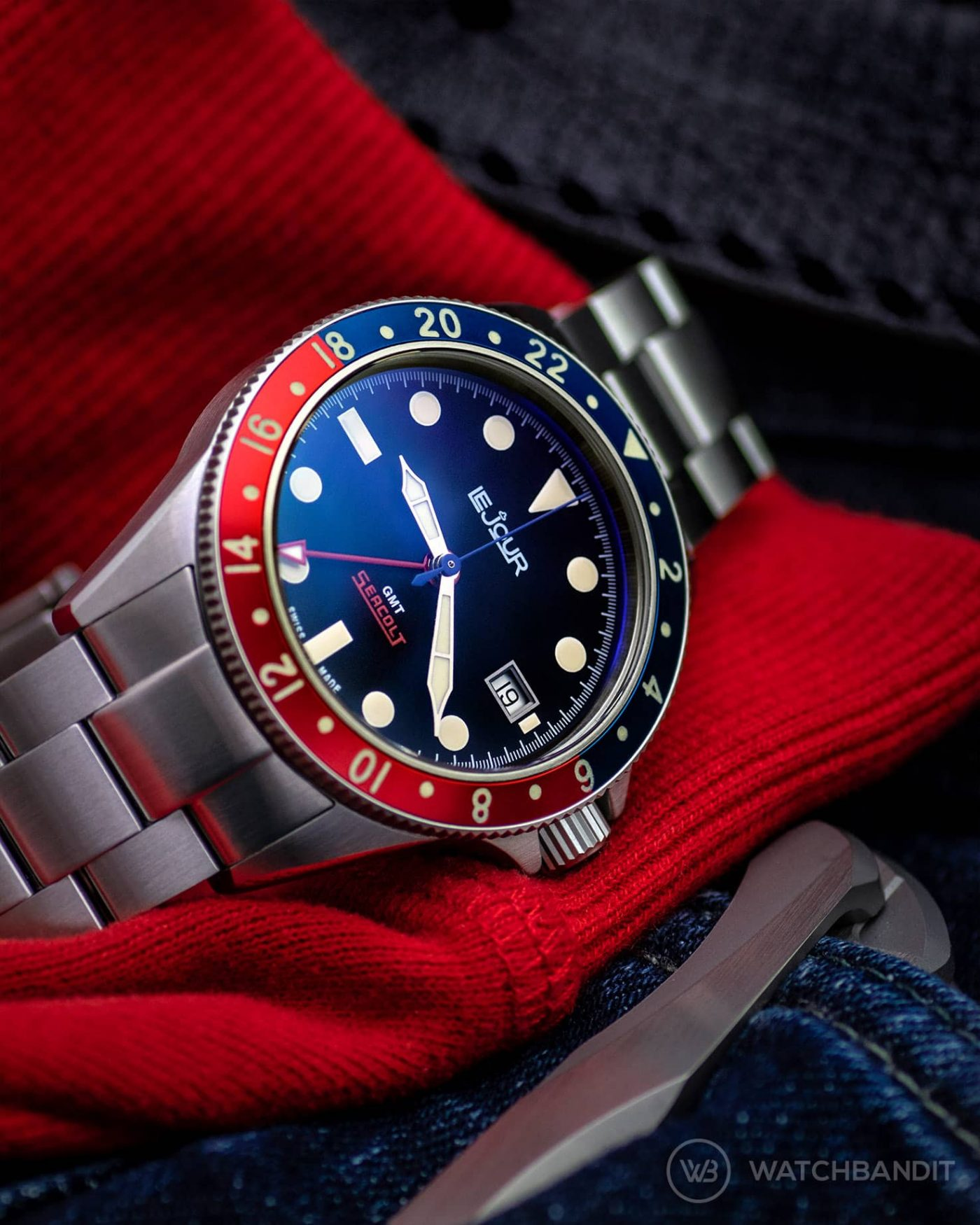 LeJour Seacolt GMT Pepsi Watchbandit