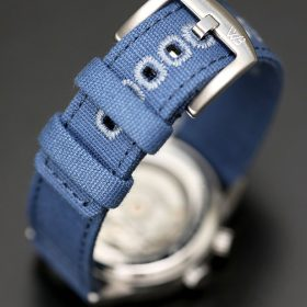 WB Original brushed stainless steel buckle blue canvas