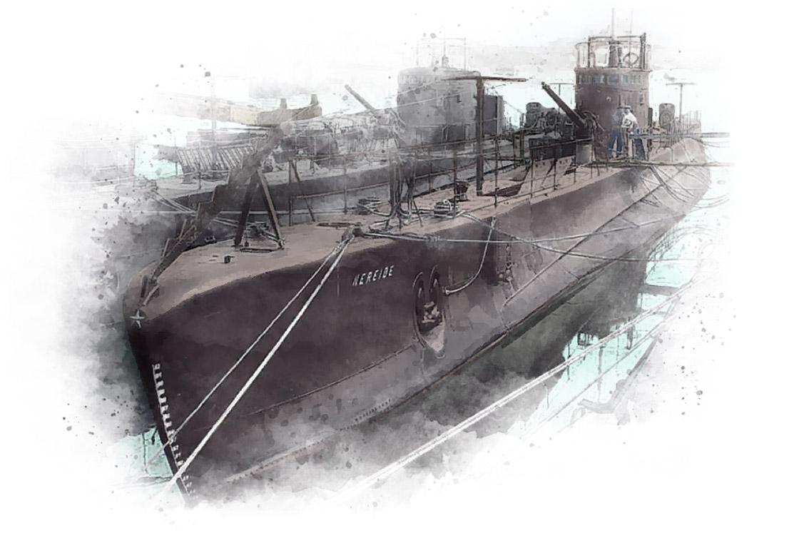 Nereide submarine sketch