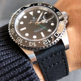 Rolex GMT Master II on black Canvas by Watchbandit