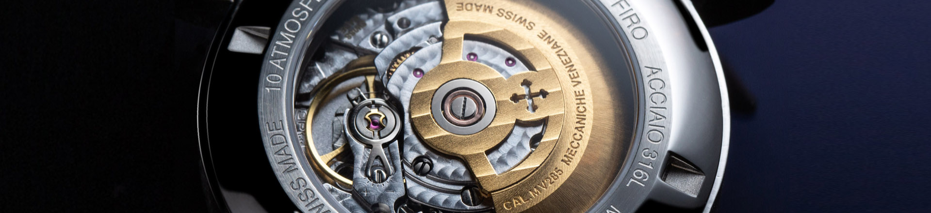 Watch movement Swiss Made Meccaniche Veneziane close up