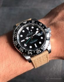 Rolex GMT Master II on beige Canvas by Watchbandit