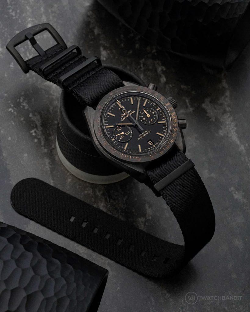 OMEGA SPEEDMASTER MOONWATCH Dark Side OF The Moon 311.92.44.51.01.006 black PVD Nato strap Watchbandit