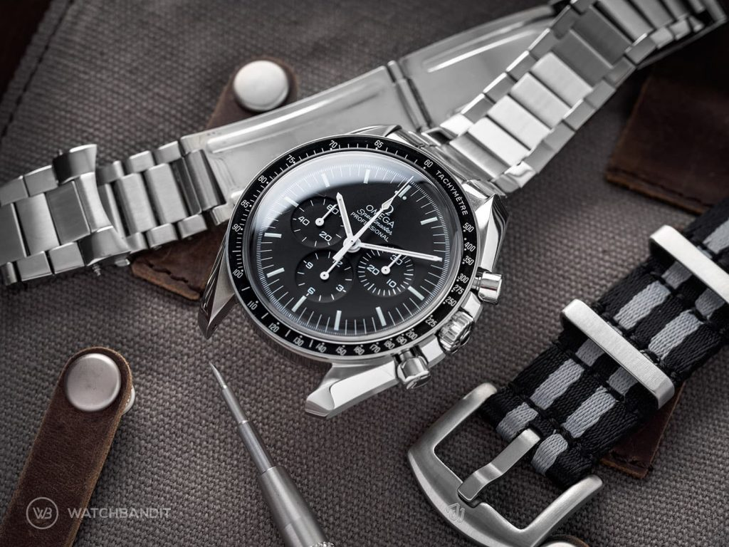 Omega Speedmaster Professional bracelet chance Bergeon spring bar tool Watchbandit