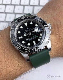 Rolex GMT Master II Classic Rubber Strap Green 116710LN