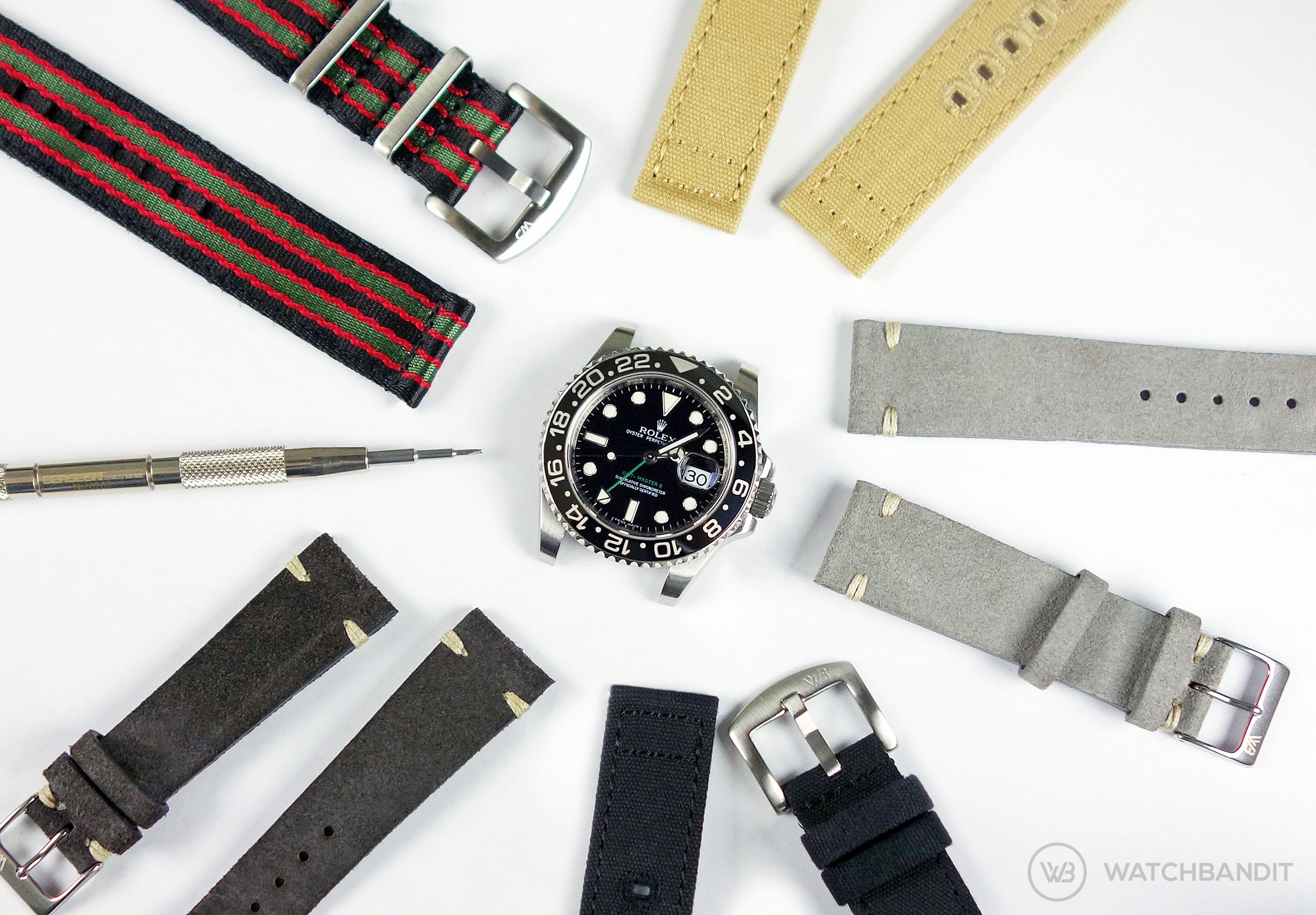 Rolex GMT Master II Strap Collection WatchBandit Original