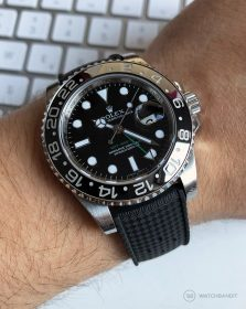 Rolex GMT Master II Classic Rubber Strap Black 116710LN