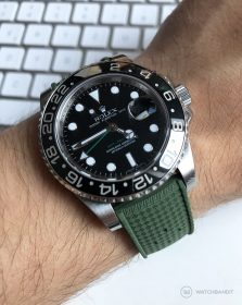 Rolex GMT Master II Tropical Style Rubber Strap Green
