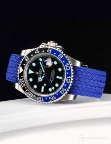 Rolex GMT Master II on Watchbandit perlon palma strap Blue