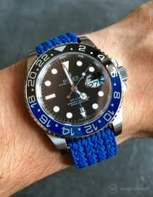 Rolex GMT Master-II 116710BLNR Batman on blue Eulit Perlon strap by WatchBandit (Photomontage)