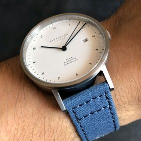Sternglas Zirkel on blue canvas strap by Watchbandit