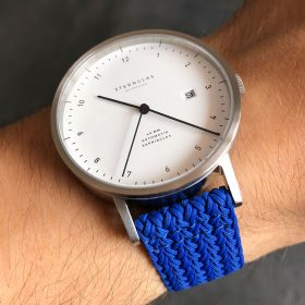 Sternglas Zirkel on blue eulit perlon strap by Watchbandit