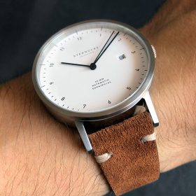 Sternglas Zirkel on brown suede strap by Watchbandit
