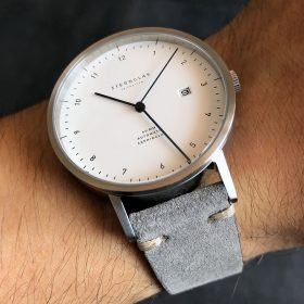Sternglas Zirkel on grey suede strap by Watchbandit