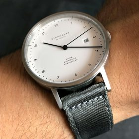 Sternglas Zirkel on grey two piece NATO strap by Watchbandit