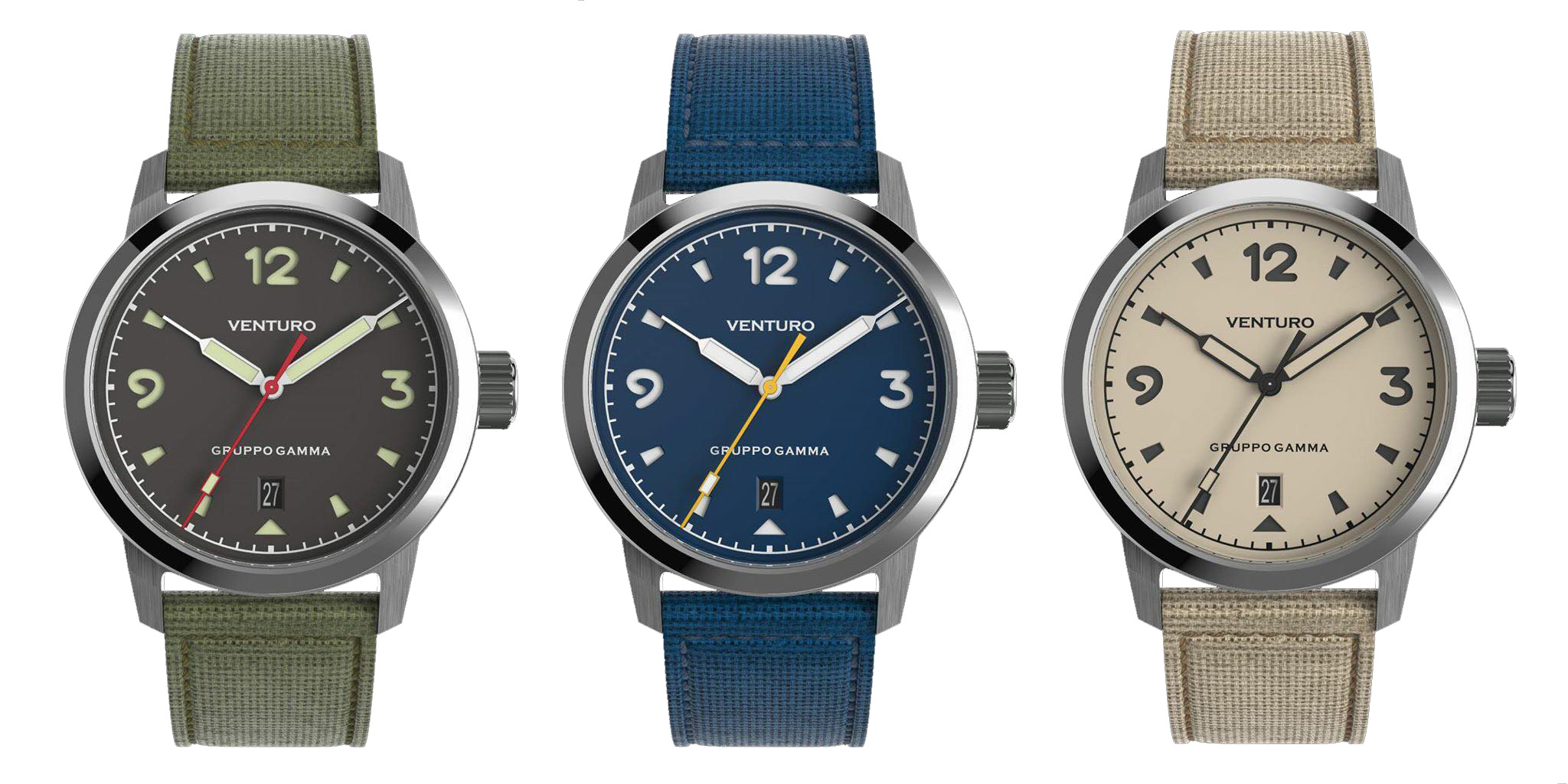 Venturo Watches Field Watch Collection Gruppo Gamma