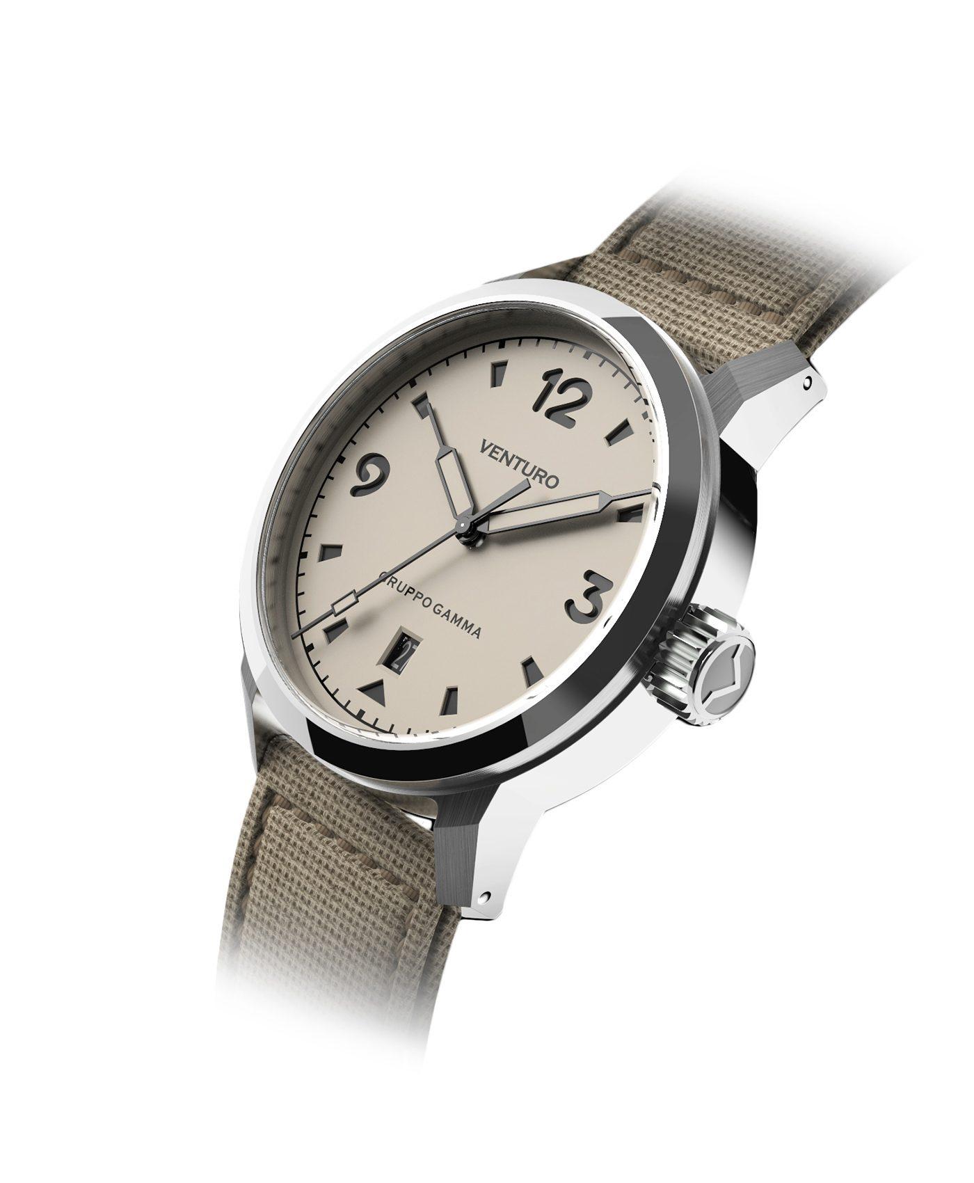 Venturo – Field Watch – Cream Full Lume Dial