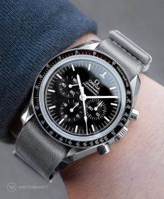 Watchbandit grey premium nato strap Omega Speedmaster Professional by Gulenissen