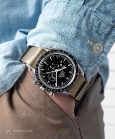 Watchbandit khaki premium nato strap khaki Omega Speedmaster Professional by Gulenissen