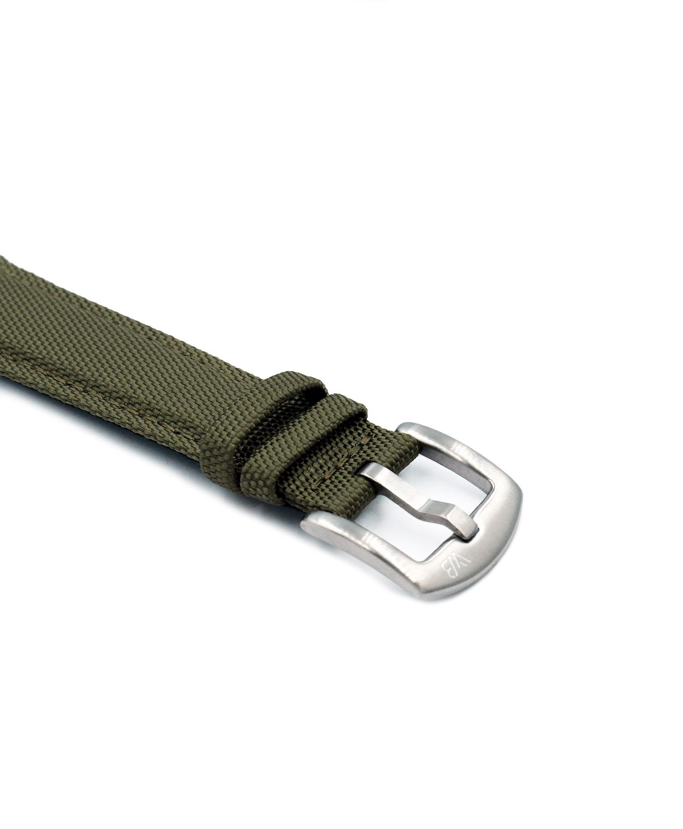 Cordura Watch Military Green stainless steel buckle by Watchbandit
