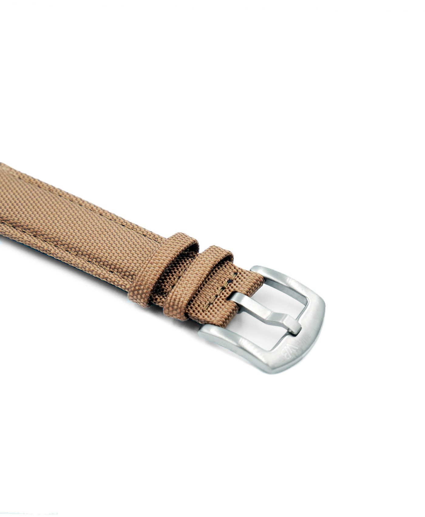 Cordura Watch Strap khaki stainless steel buckle by Watchbandit