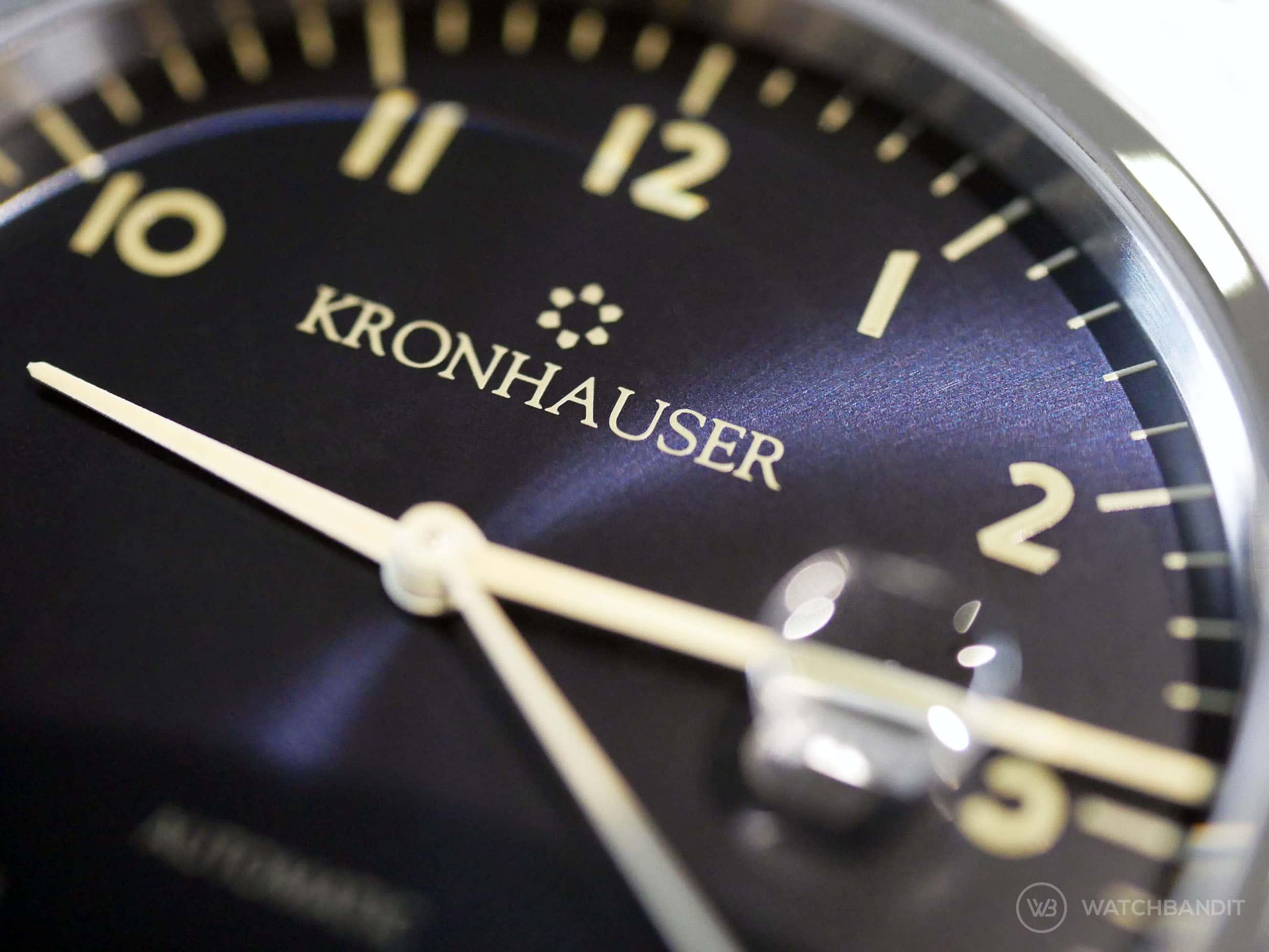 Kronhauser Blue Sunburst Dial
