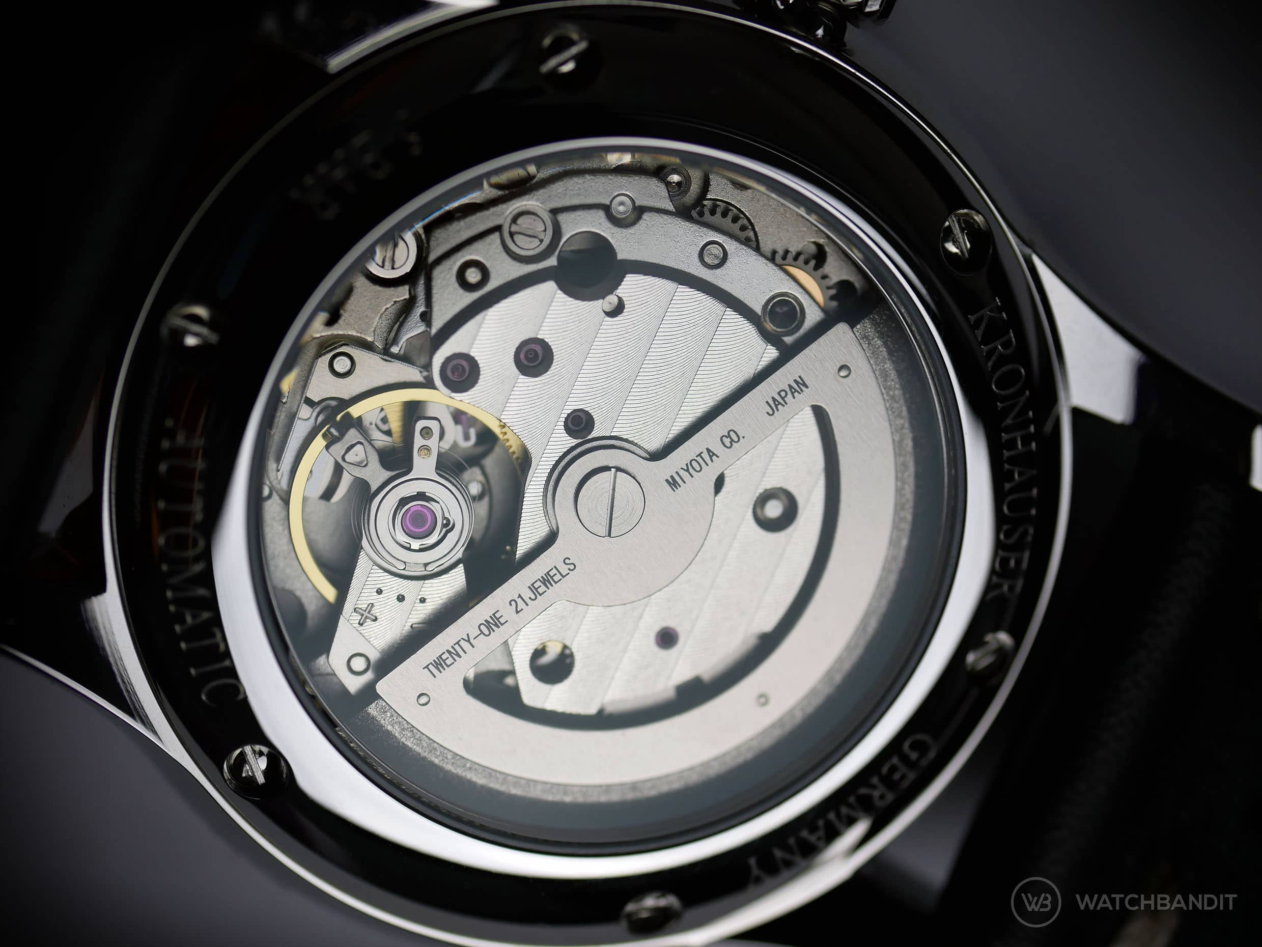 Kronhauser Movement Miyota 821A automatic