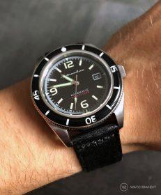 Spinnaker Fleuss SP-5055-02 on black two-piece NATO by WatchBandit