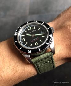 Spinnaker Fleuss SP-5055-02 on green Canvas by WatchBandit