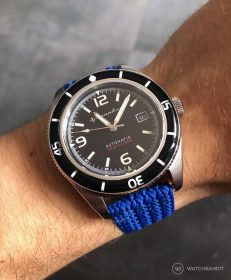 Spinnaker Fleuss SP-5055-02 on blue Eulit Palma Perlon by by WatchBandit