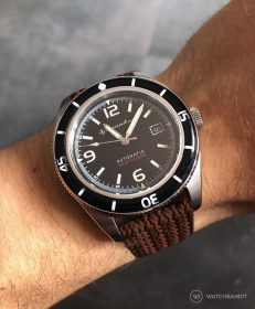 Spinnaker Fleuss SP-5055-02 on brown Eulit Palma Perlon by by WatchBandit