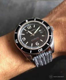 Spinnaker Fleuss SP-5055-02 on grey Eulit Palma Perlon by by WatchBandit