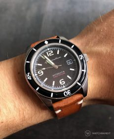 Spinnaker Fleuss SP-5055-02 brown vintage leather strap by WatchBandit