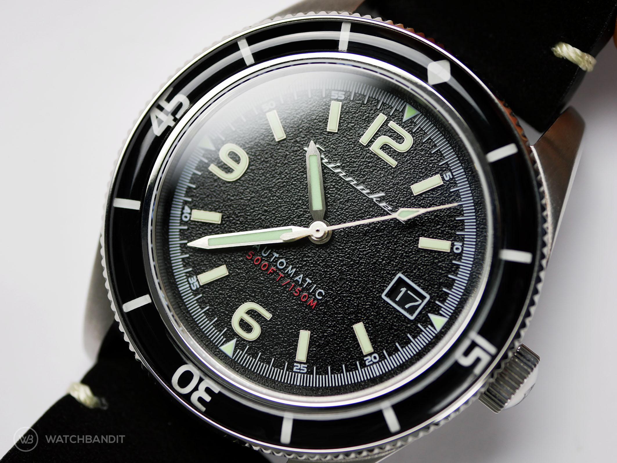 Spinnaker Fleuss SP-5055-02 close up dial