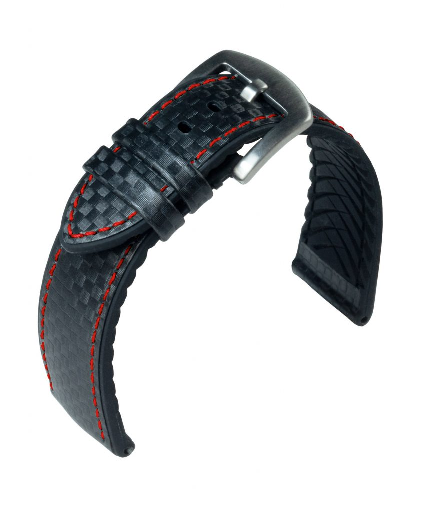 WB EUTec Carbon Black - Red stitching