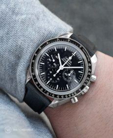 Watchbandit black Sailcloth Cordura strap Omega Speedmaster Professional