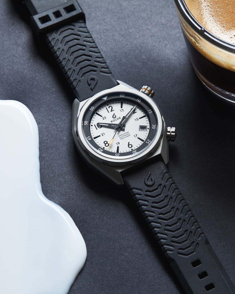 Boldr Explorer II Eiger white dial watchbandit