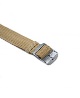 Watchbandit Premium Perlon Watch strap beige buckle