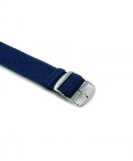 Watchbandit Premium Perlon Watch strap blue buckle