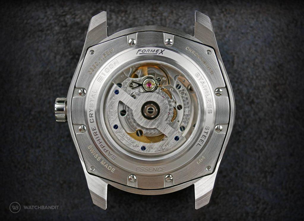 Formex Essence Chronometer Blue COSC Sellita SW200 Caseback