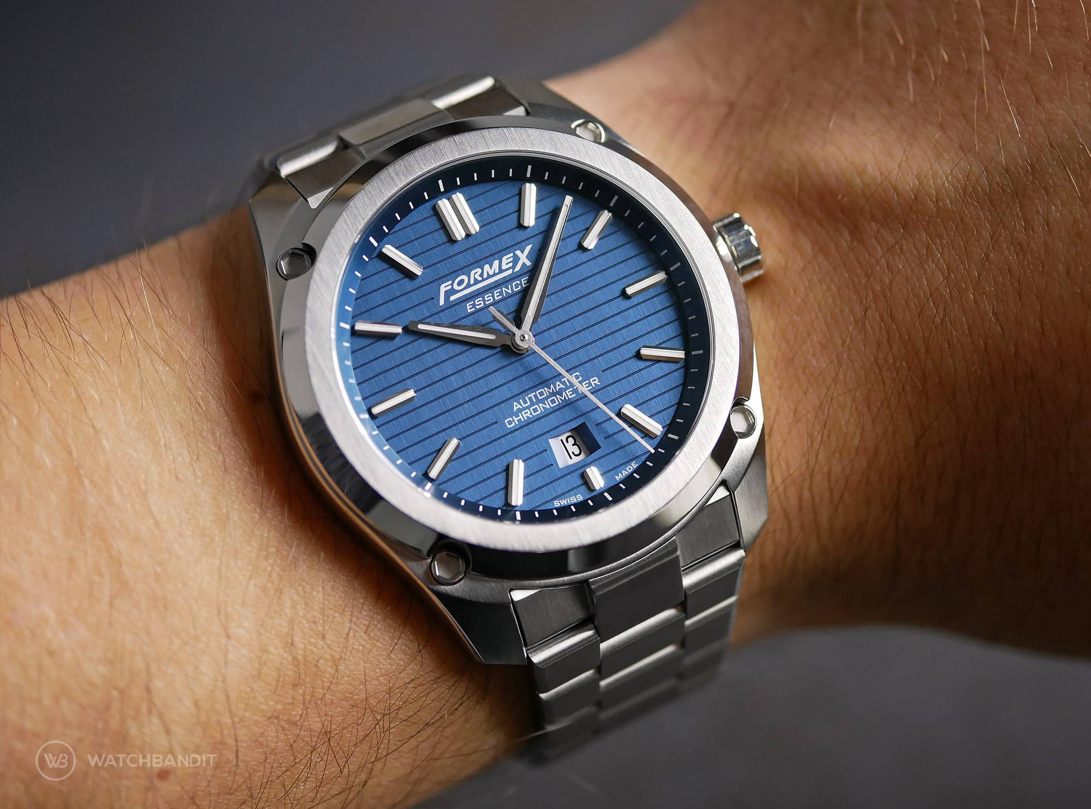 Formex Essence Chronometer Blue Wristshot
