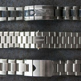 Comparison of Formex, Rolex and Tudor bracelet clasps