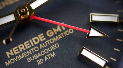 Meccaniche Veneziane Nereide GMT PVD Watchbandit close up GMT hand