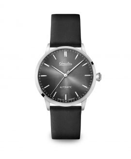 WB Circula - Classic Automatic Anthracite - Leather Black front