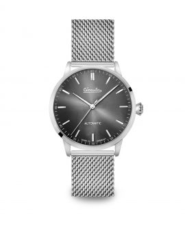 WB Circula - Classic Automatic Anthracite - Mesh Silver front