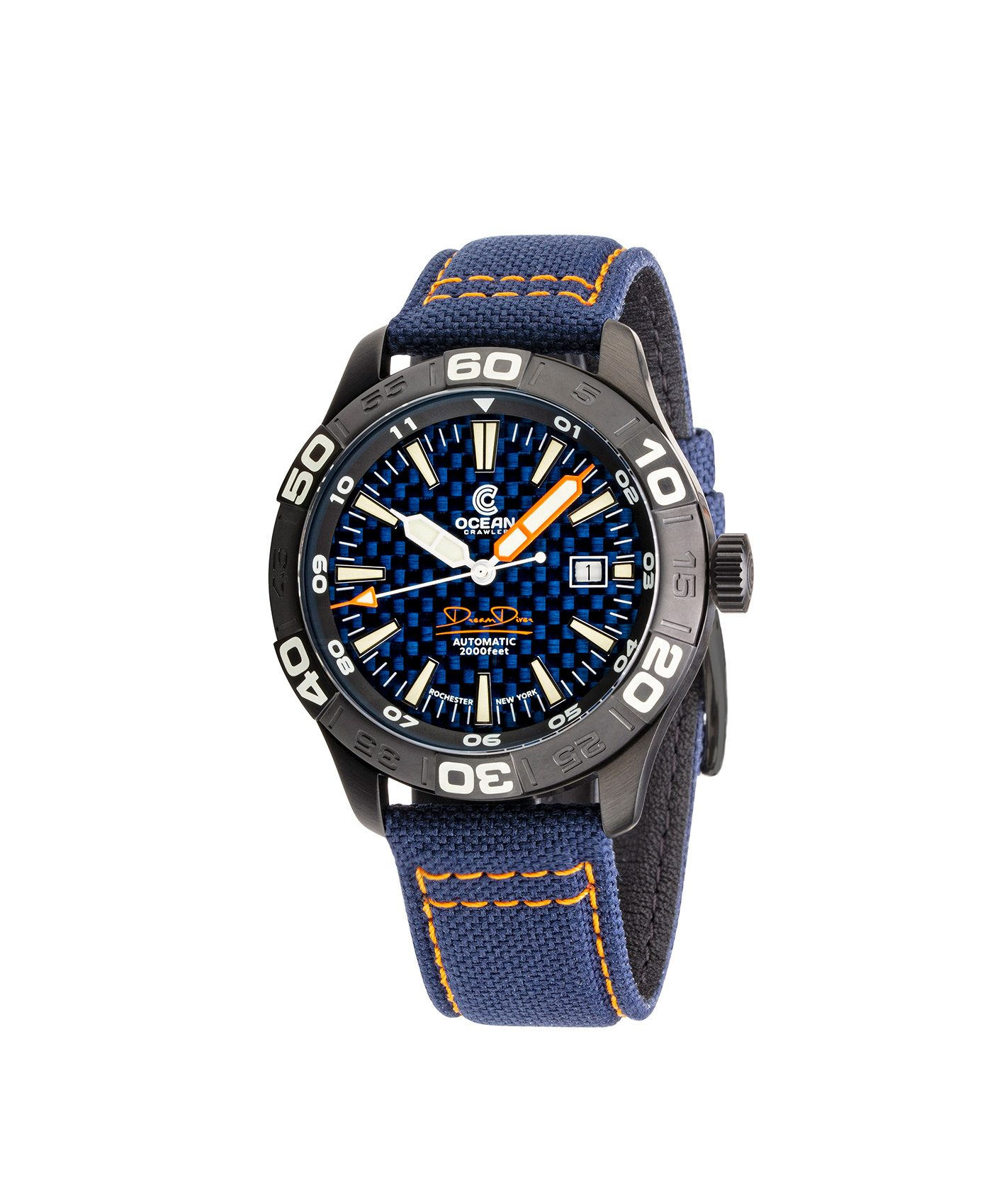 WB Ocean Crawler Dream Diver Blue Carbon Fiber DLC front